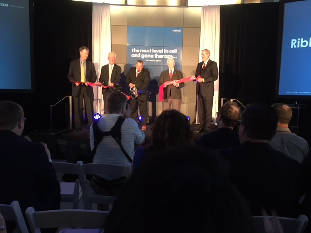 Lonza Ribbon Cutting - Executives